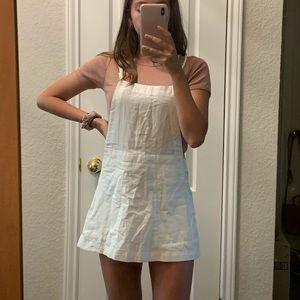 white free people skirt overalls
